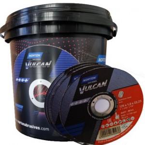 product photo Tarcza do cięcia stali 125x1,0x22.23 A60T INOX VULCAN 100 szt